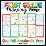 First Grade Morning Work | Homework | Spiral Review | Distance Learning