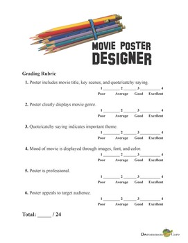 Common Core Movie Poster Activity