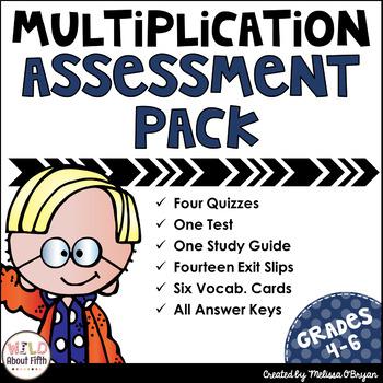 Multi-Digit Multiplication Assessment Pack