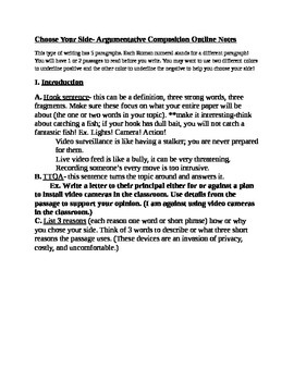Common Core Multiparagraph Writing Packet