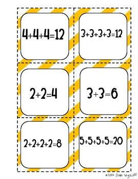 Multiplication Arrays Matching Game