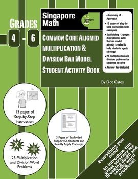 Common Core Multiplication & Division Bar Model Student Book: Intro for Gr. 4-6
