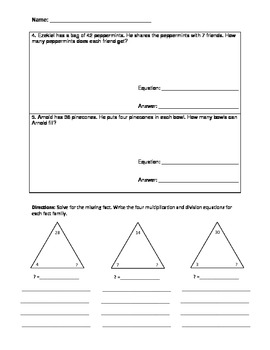Common Core: Fall Multiplication & Division Word Problems
