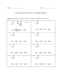 Common Core Multiplication - Estimating Reasonable Product