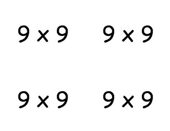 Common Core Multiplication Flashcards (x9)