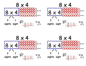 Common Core Multiplication Flashcards - x7 and x8 (Distributive property)