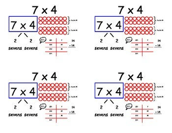 Common Core Multiplication Flashcards - x7 and x8 (Distrib