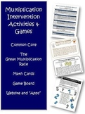 Multiplication Intervention Bundle RtI Activities Games and More