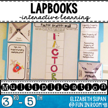 Common Core Multiplication Lapbook by Fun in Room 4B | TpT