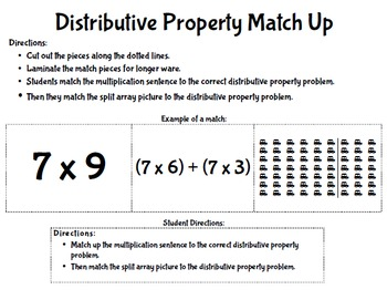 Common Core Multiplication Properties Matches, Games, and Quizzes