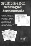 Common Core Multiplication Strategies Assessments 4th and