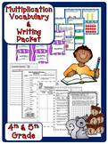 Multiplication Vocabulary Practice Packet