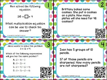 Common Core Multiplication and Division Scoot Cards