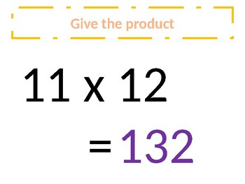 Common Core – Multiplication of 12s - Around the world
