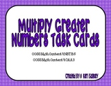 Common Core Multiply Greater Numbers Task Cards