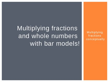 Common Core: Multiplying fractions with bar model