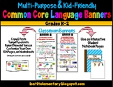 Common Core Multipurpose Language Standards Banners