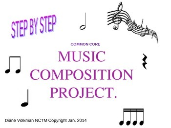 Common Core Music Composition Step by Step Power Point