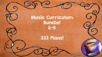 Common Core Music Curriculum K-8 Bundled