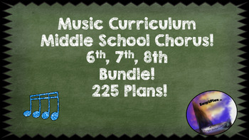 Common Core Music Curriculum Middle School Bundle Grade 6 7 8