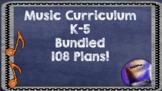 Common Core Music Lesson Plan Bundle Grades K