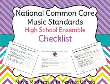 Common Core Music Standards Checklists - High School Ensemble Strand