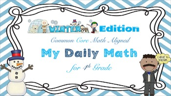 Common Core Math - My Daily Math for 4th Grade - FREEBIE