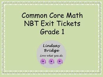 Common Core NBT Exit Tickets Bundle