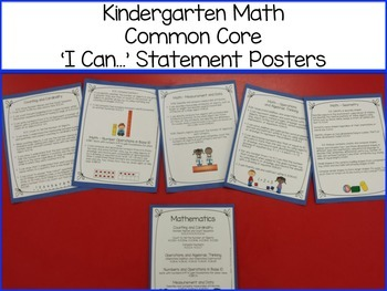 Kindergarten  'I Can...' Statement Posters {ELA-Math CC & NG Science Standards}