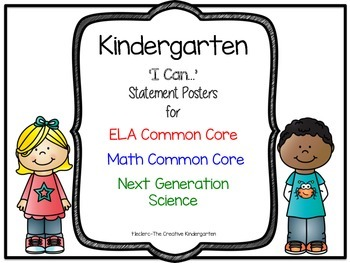 Kindergarten  'I Can...' Statement Posters {ELA-Math CC &