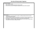 Common Core Narrative Writing Graphic Organizer and Rubric