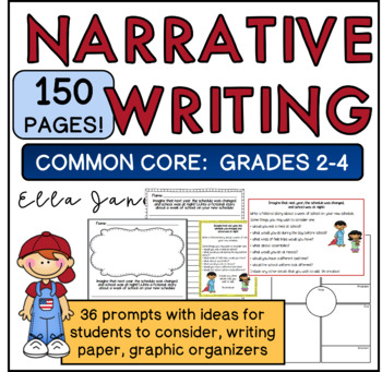 Common Core Narrative Writing Packet (2nd-4th grades)