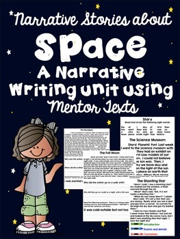 Common Core Narrative Writing (Space Theme)-Using mentor texts