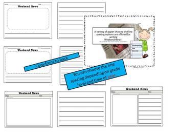Kindergarten Writing & Editing Checklists {Weekend & Daily News}