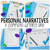 Personal Narrative Writing Unit - Writing Workshop - Use for Distance Learning