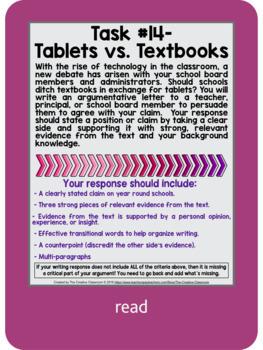 Common Core News Debate: Digital Argumentative Writing Task Cards