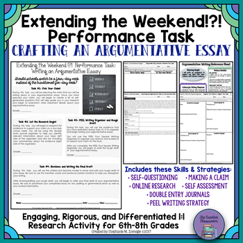 Extending the Weekend!?!: Differentiated Argumentative Writing Performance Task