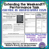 Extending the Weekend!?!: Middle School Argumentative Writing