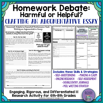 Homework-Helpful or Harmful?: Real-World Argumentative Writing Performance Task