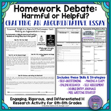 Homework-Helpful or Harmful?: Real-World Argumentative Wri
