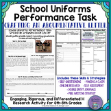 Middle School Argumentative Writing: School Uniforms Debate