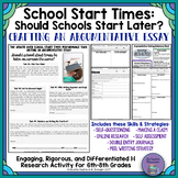 Should Schools Start Later?: Real-World Argumentative Writing Performance Task