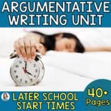 Middle School Argumentative Writing: Should Schools Start Later?