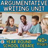 Year-Round Schools!?!: Differentiated Argumentative Writing