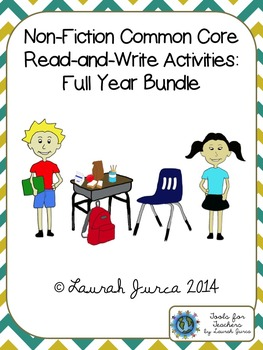 Non-Fiction Common Core Close Reading and Writing: Full Year Bundle