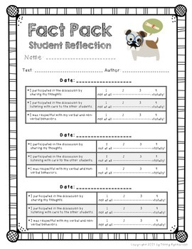 Common Core Non-Fiction Reading Clubs: Fact Packs! *Studious Puppy Theme*