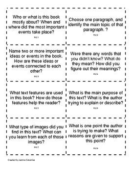 Common Core Nonfiction Discussion Cards 2nd Grade