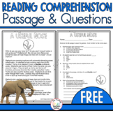 Reading Comprehension Passage and Questions