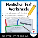 Common Core Informational Texts and Nonfiction Reading Skills Worksheets