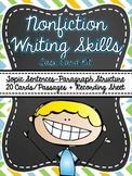 Common Core- Nonfiction Writing Skills Task Card Kit-Multiple Choice